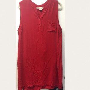 🆕 Faded Glory Red Tunic